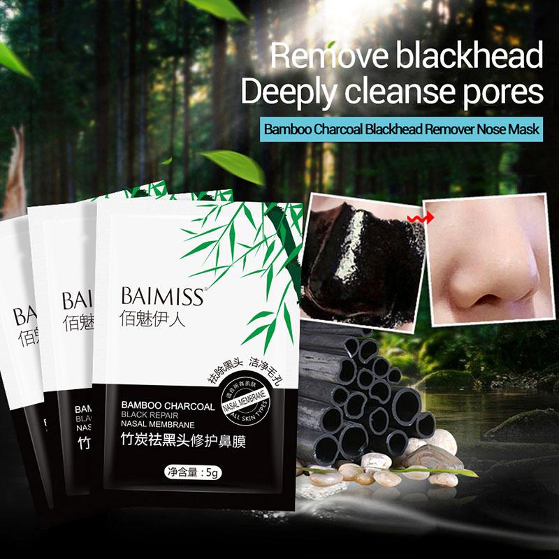 10pcs/Set Blackhead Remover Black Masks Peeling Nose Mask Acne Treatment Face Care Pore Strip Deep Cleansing Without Harm