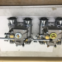 SherryBerg (2x) 45 Dcoe 152 Twin carburetor with air horns for Toyota 22R 1981 1984 Pickup Weber Solex dellorto CARBY