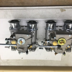 Image 1 - SherryBerg (2x) 45 Dcoe 152 Twin carburetor with air horns for Toyota 22R 1981 1984 Pickup Weber Solex dellorto CARBY