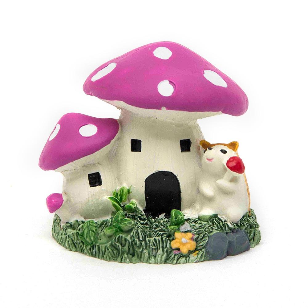 Mushroom Welcome Miniature Dollhouse FAIRY GARDEN Accessories