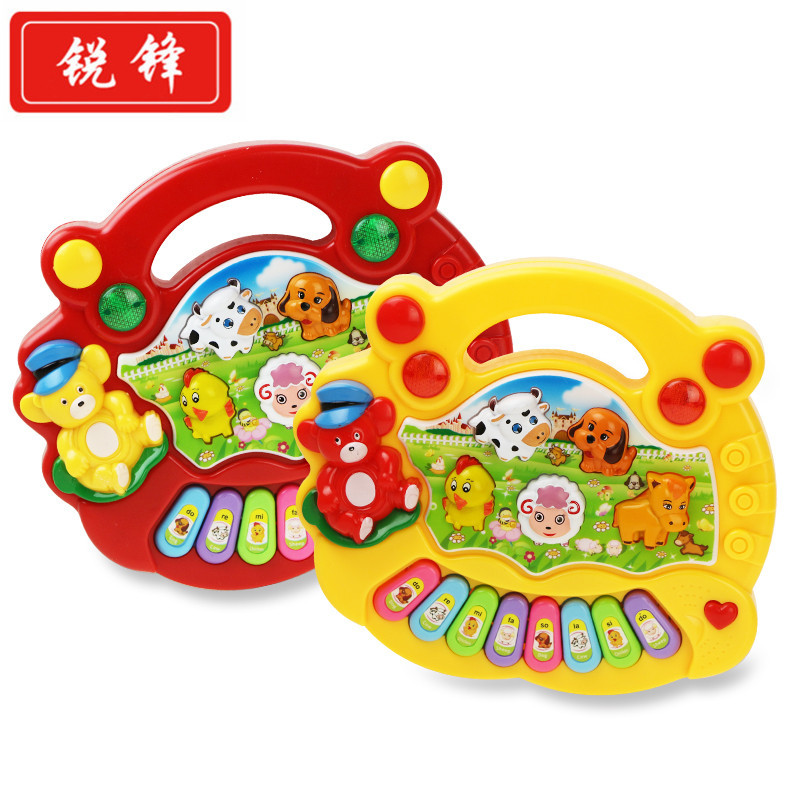 Hot Sale Musical Instrument Toy Baby Kids Animal Farm Piano Developmental Music Educational Toys For Children Gift