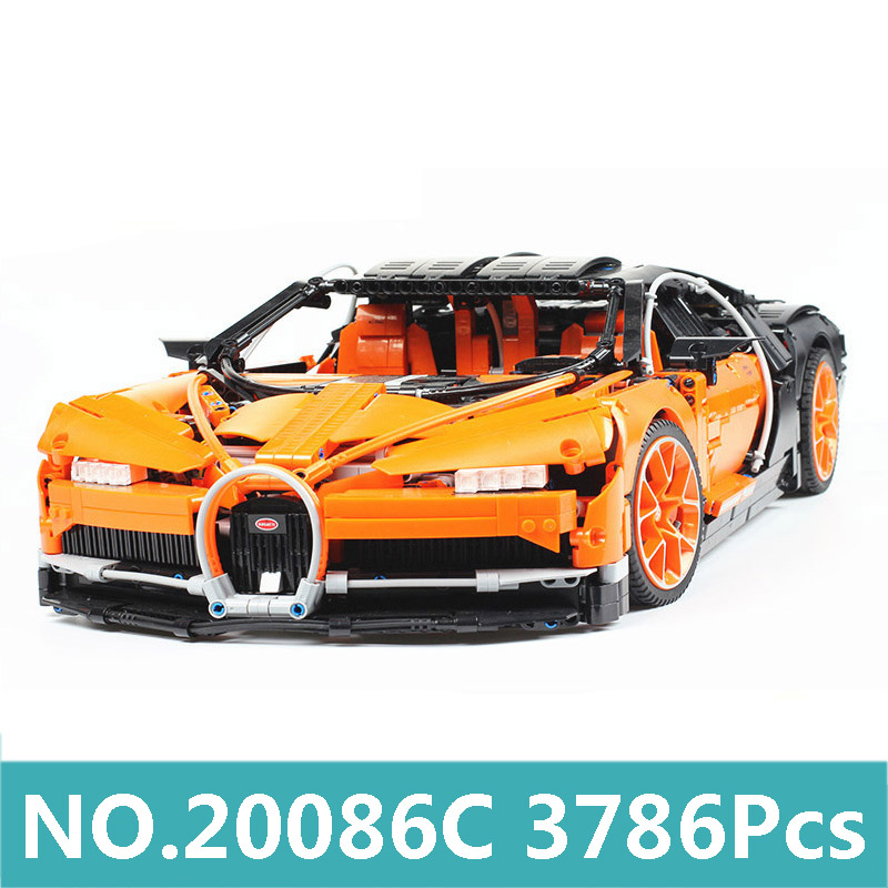 20001B 20086B Bugatti Chiron Super Sport Racing Car Model Building Blocks Set City Technic Car 42056