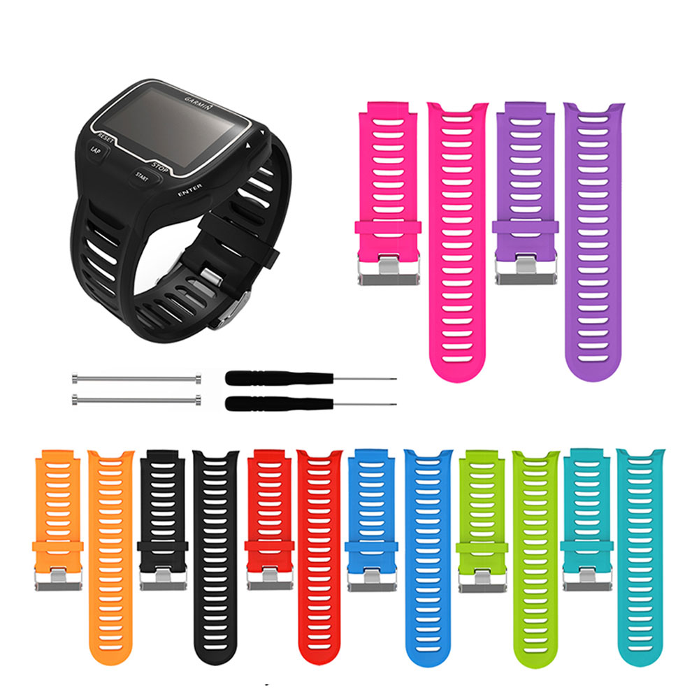 For <font><b>Garmin</b></font> Forerunner <font><b>910XT</b></font> Silicone Wristband Smart Watch Band with Repair Tool Sports Watch <font><b>Strap</b></font> Replacement Accessories image