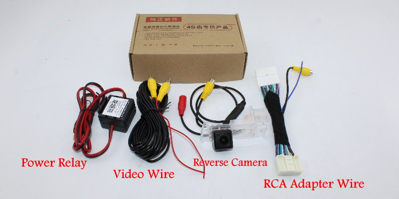 Liislee Car Reverse Rear View Camera For Renault Captur 2013~2018 Compatible With Original Screen RCA Adapter Connector package