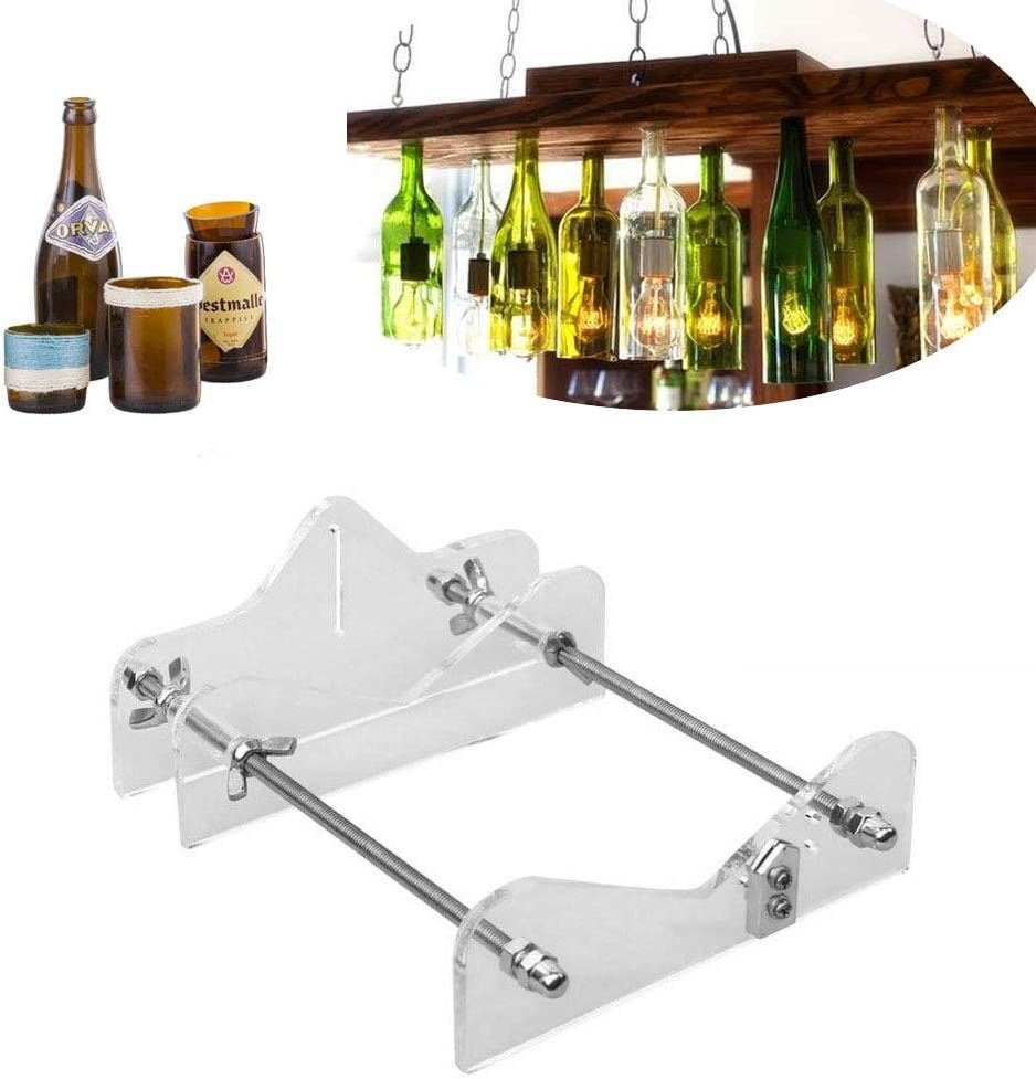 DIY Glass Bottle Cutter Machine Tools, Bundle Wine Beer Champagne Bottles And Jars Cutting Tool Kit For Home Bar Decoration Tool