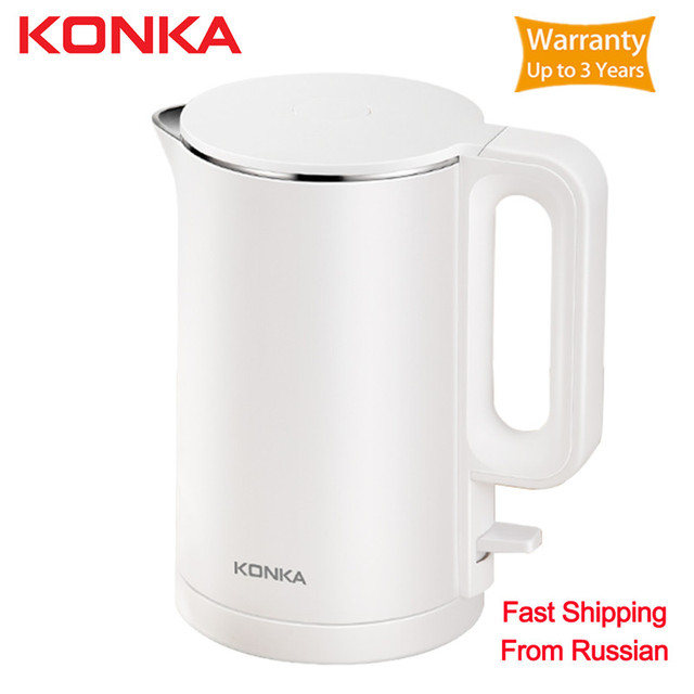 Оригинальный электрический чайник KONKA, чайник для чая емкостью 1,7 л с автоматическим отключением, чайник для воды, чайник для быстрого закипания из нержавеющей стали с мгновенным нагревом