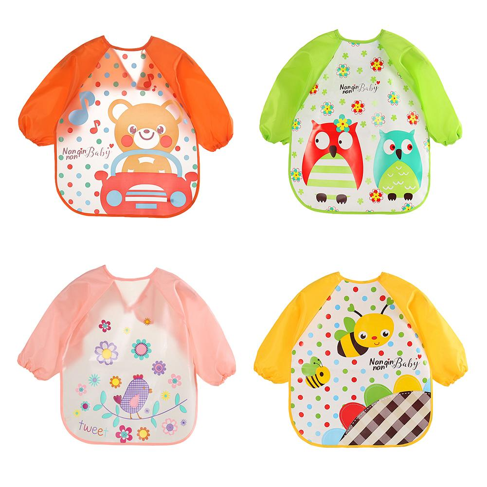 Diamondo Newborn Baby Toddler Kids Long Sleeve Art Smock Bib Waterproof Apron Apple