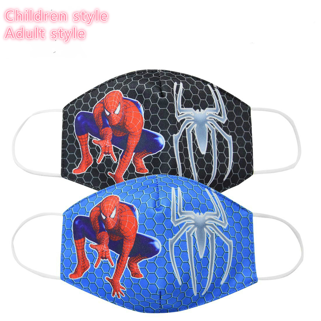 Kids Adult Cartoons Spiderman Print Anti-Dust Face Mouth Mask Lovely Breathable Washable Easy To Breathe  Mouth Mask Thick