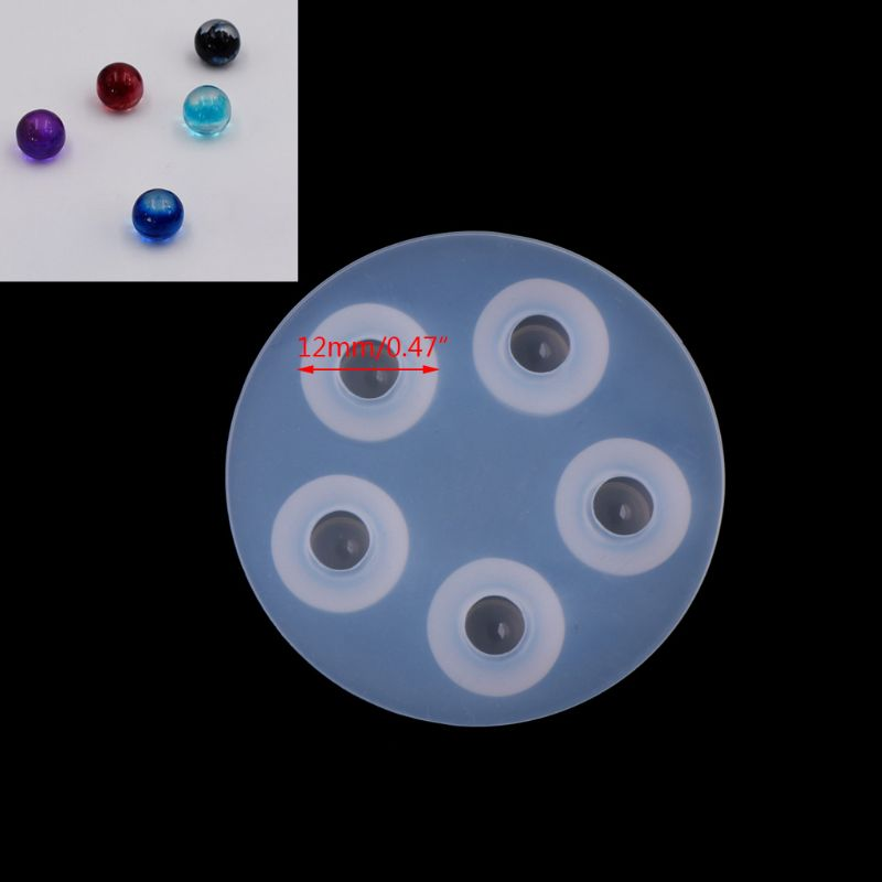 JAVRICK Ball Shape Silicone Necklace Pendant Jewelry Mold Casting Making DIY Resin Craft NEW