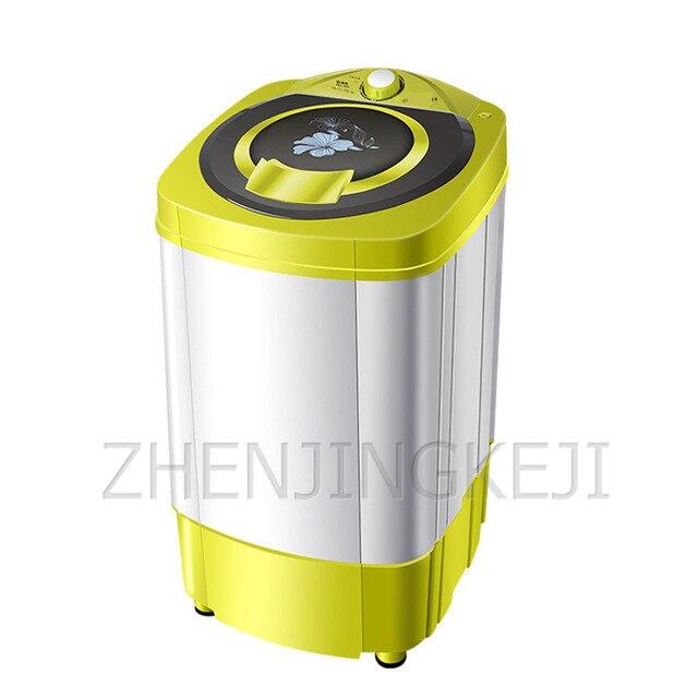 9KG Single Spin Dryer Mini Small Washing Machine 220V Semi-automatic Business Traveling Underwear Shirt Personal Portable Washer