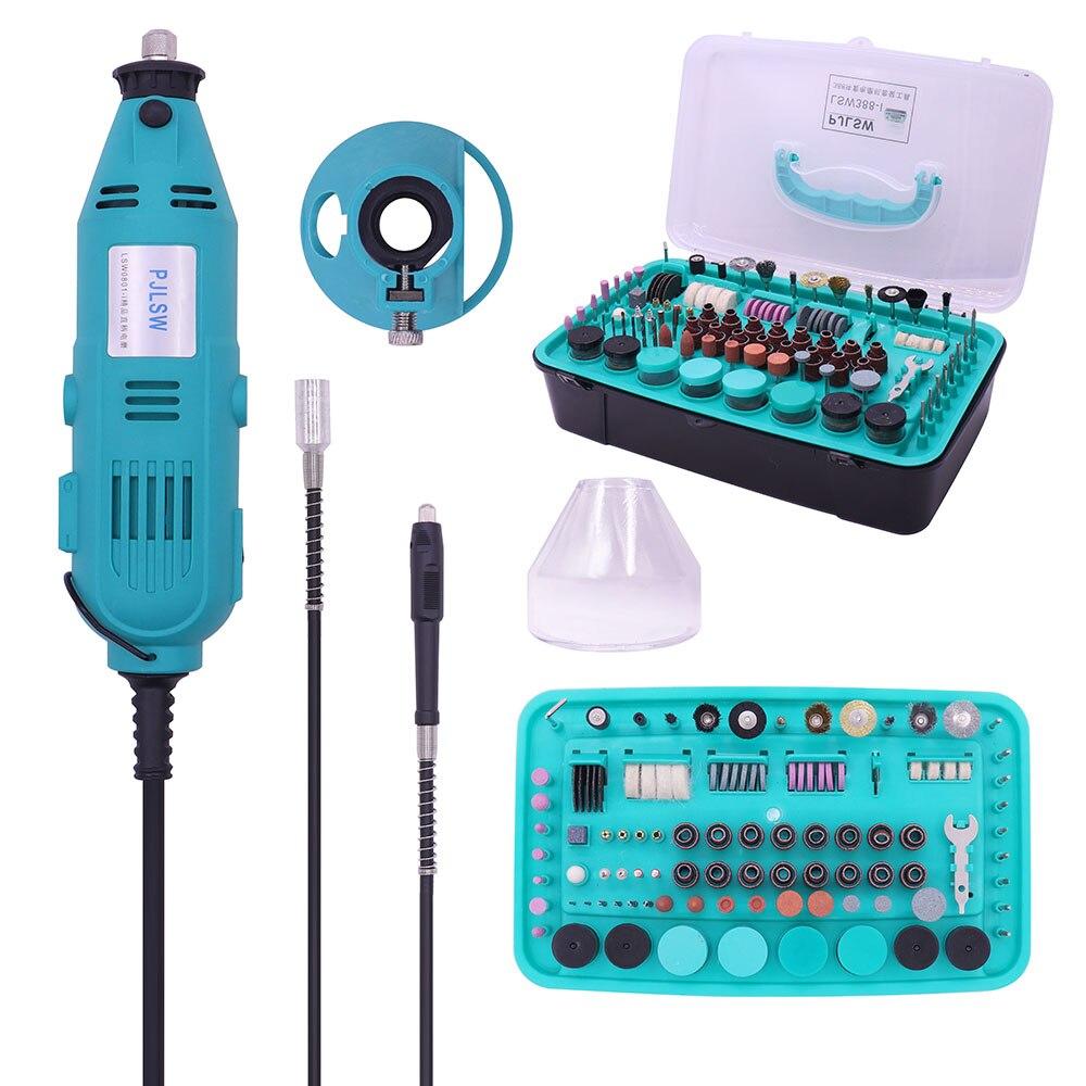 PJLSW 388-I NEUE Kit kombination werkzeug elektrische grinder anzug kleine jade carving maschine polieren maschine schleifen machin
