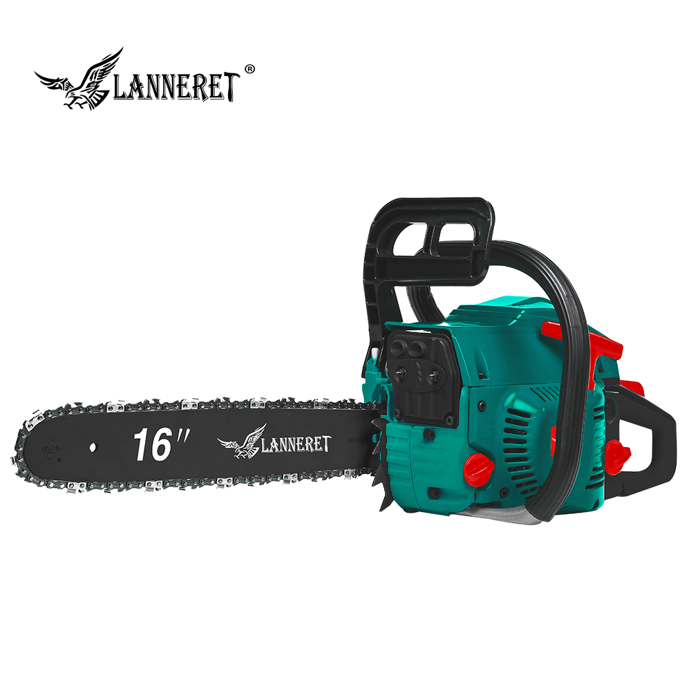 LANNERET 45CC Gasoline ChainSaw Wood Cutter 2 Stroke 1.7kw Petrol Engine Chain Saw with Saw Chain and Blade Top Handle|Electric Saws| |  - title=