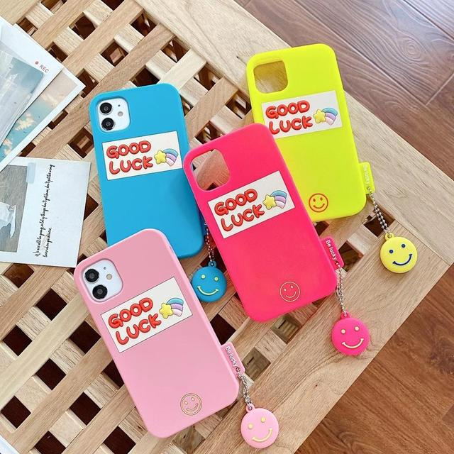 Silicone Smooth Good Luck meteor With Smiling Face Phone Case For iphone6 7 8Plus XR XSMAX 11Pro Buy One Get Corresponding Ring