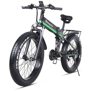 MX01 26 inch Electric Bike Foding Mountian Bike Fatbike Ebike Adult Bicycle with 48V 1000W Motor,3.5