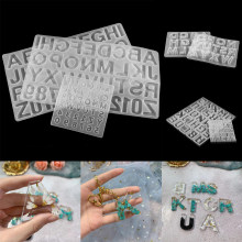 7Style English Alphabet Epoxy Resin Molds Mixed Style Silicone Casting Molds For DIY Jewelry Making Finding Supplies Accessories