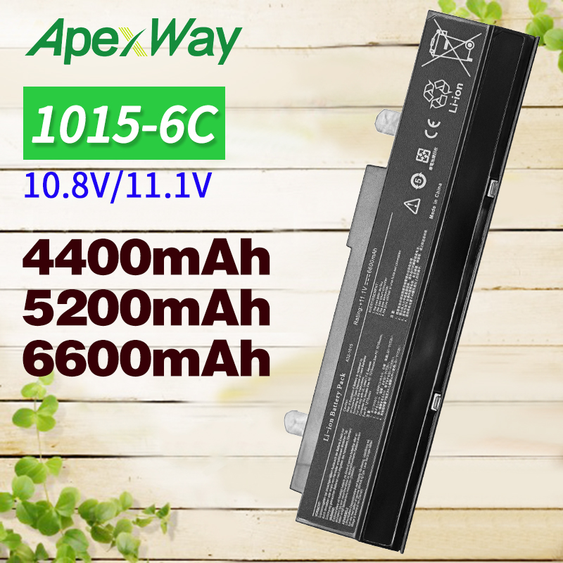Apexway 11.1V Black <font><b>A32</b></font>-<font><b>1015</b></font> battery for Asus EEE PC 1011 <font><b>1015</b></font> 1016 1215 1015b 1015px <font><b>A32</b></font>-<font><b>1015</b></font> A31-<font><b>1015</b></font> AL31-<font><b>1015</b></font> AL32-<font><b>1015</b></font> image