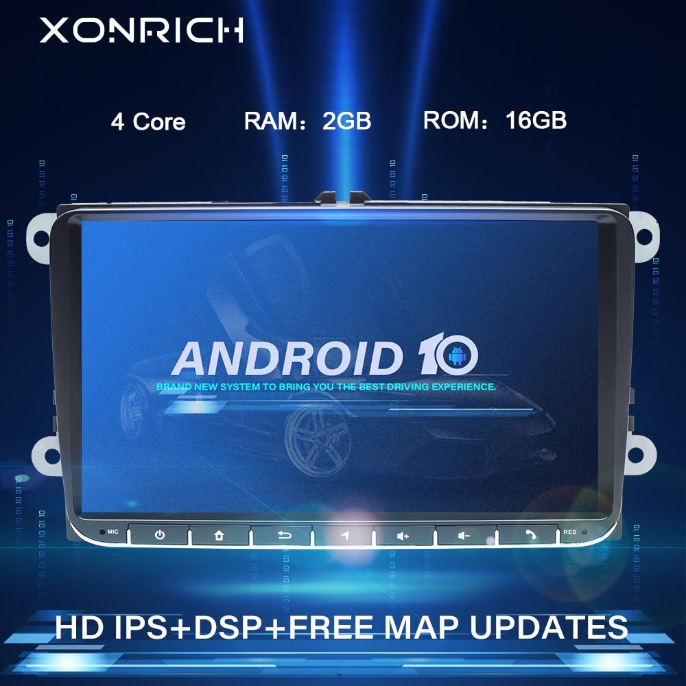 2 Din Android 10 автомобильное радио GPS навигация для VW Passat B6 volkswagen Jeta touran Skoda Octavia 2 seat leon 2golf 5 6 мультимедиа