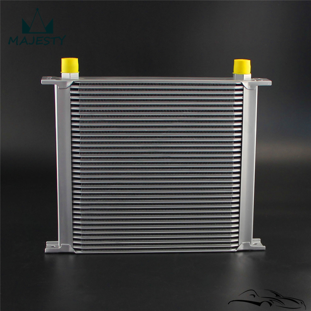 13 ROW AN-10AN Universal Engine Transmission Oil Cooler Silver