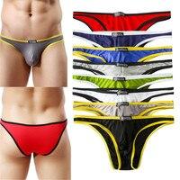 YUFEIDA Wholesale 8pcs/Lot Sexy Men's Underwear Men Briefs Smooth Underpants Spandex Bulge Panties Male Briefs Exotic Jockstraps
