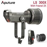 Aputure LS 300X Bi Color Led Studio Light Photography Wireless Video Light & Aputure Fresnel 2x Multi Functional Spot Lens