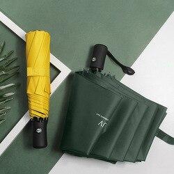 JESSE KAMM prosty styl mody winylu ochrony przeciwsłonecznej silny wiatr odporny biznes parasol kreatywny trzy krotnie parasol automatyczny