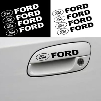 4 pieces High quality Car Styling Logo Car Door Handle Stickers For Ford Focus 2 3 1 MK2 MK3 MK1 Fusion Car accessories image