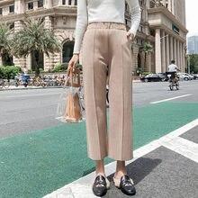 Новинка Весна 2020 женские эластичные шерстяные брюки повседневные