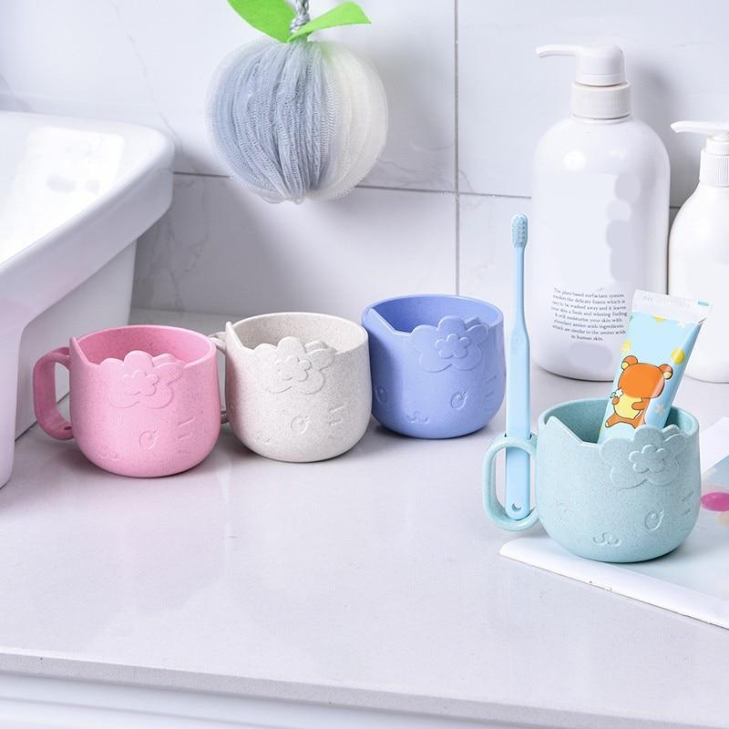 Baby Cartoon Trainer Cups Bottles Children Water Anti-scalding Milk Cups With Holder