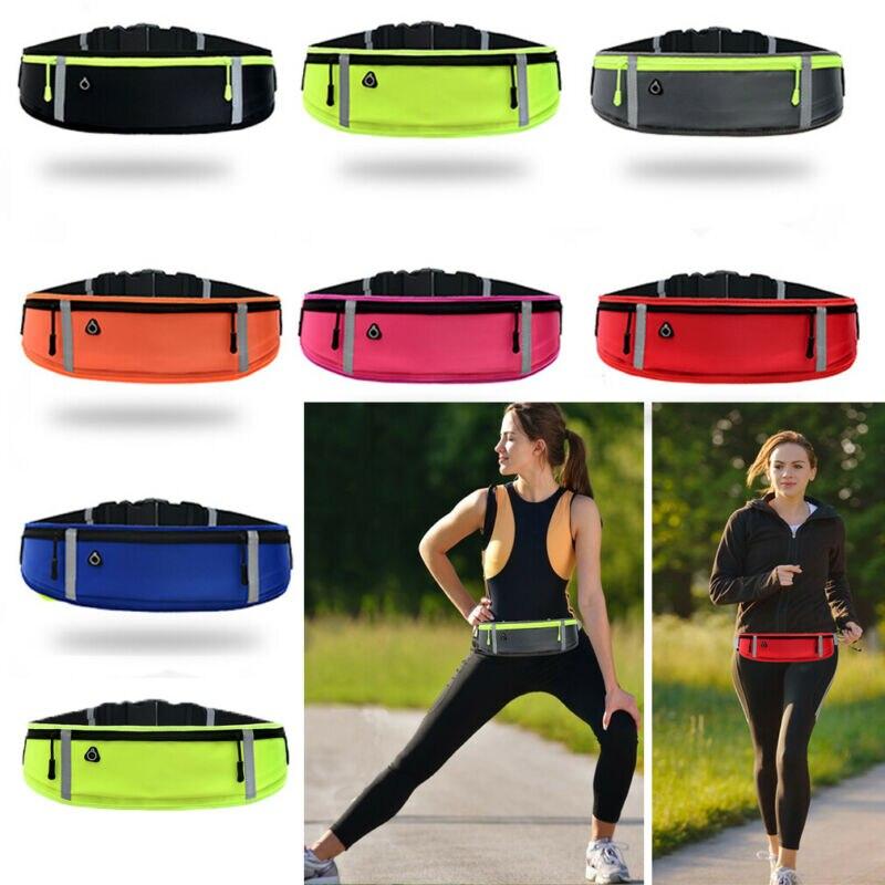 Solid Color Waist Bag Waterproof Waist Bum Bag Running And Jogging Belt Pouch Zip Fanny Pack Sport Runner Crossbody Bags Unisex