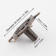 54 мм 4 шт Античная Творческий дверная ручка с одним отверстием