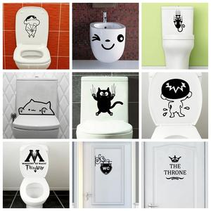 Decal Sticker Toilet Home-Decoration-Accessories Bathrooms Modern Vinyl Mural Closestool