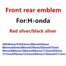 1 pçs prata vermelho balck prata h logotipo do carro volante adesivo dianteiro capô grill tronco traseiro emblema adesivo estilo