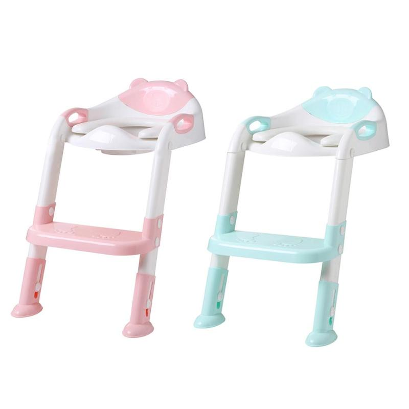 Baby Toilet Potty Seat Kids Training Safety Cushion Girls Boy Seat Ring Infant Care With Armrest