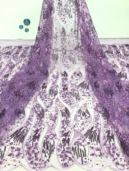 African lace fabric embroidered Nigerian lace fabric bride high quality French tulle lace fabric for women's clothes FJ34181