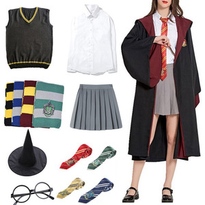 Hermione Granger Cosplay Uniforms Potter Cosplay Costume Clothe Cloak Robe Cape Suit Wand Shirt Tie Scarf Halloween Party Kids