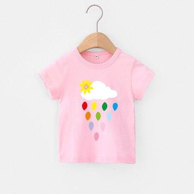 VIDMID Baby girls t-shirt Summer Clothes Casual Cartoon cotton tops tees kids Girls Clothing Short Sleeve t-shirt 4018 06 14