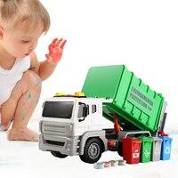 쓰레기 트럭 쓰레기통 모델 자동차 장난감 차량 소리 및 빛 어린이 선물