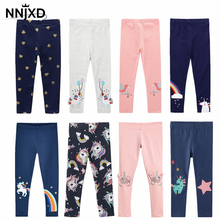 Girls Leggings Trousers Kids Pants Fille Skinny-Print Cartoon-Pattern Cotton Boy's