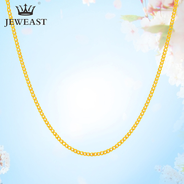 QA 24K Pure Gold Necklace Real AU 999 Solid Gold Chain Firm Nice Smooth Upscale Trendy Classic  Fine Jewelry Hot Sell New 2020