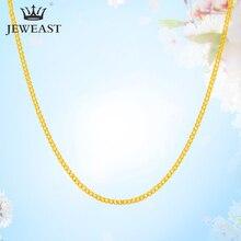 QA collar de oro puro de 24K para mujer, cadena de oro sólido auténtico AU 999, joyería de lujo lisa y lujosa, clásico bonito, producto en oferta, novedad de 2020