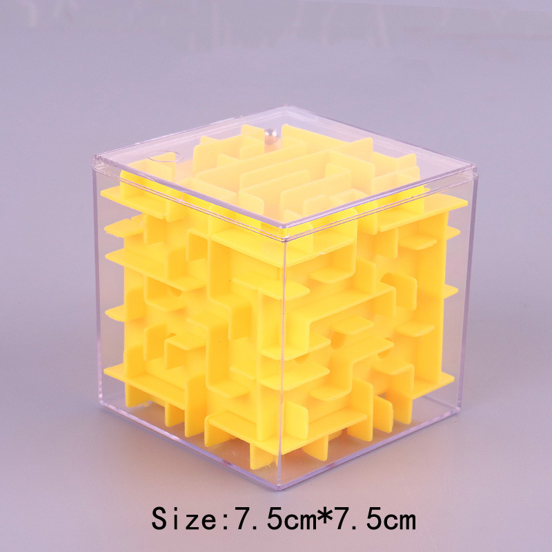 TOBEFU 3D Maze Magic Cube Transparent Six-sided Puzzle Speed Cube Rolling Ball Game Cubos Maze Toys for Children Educational 9