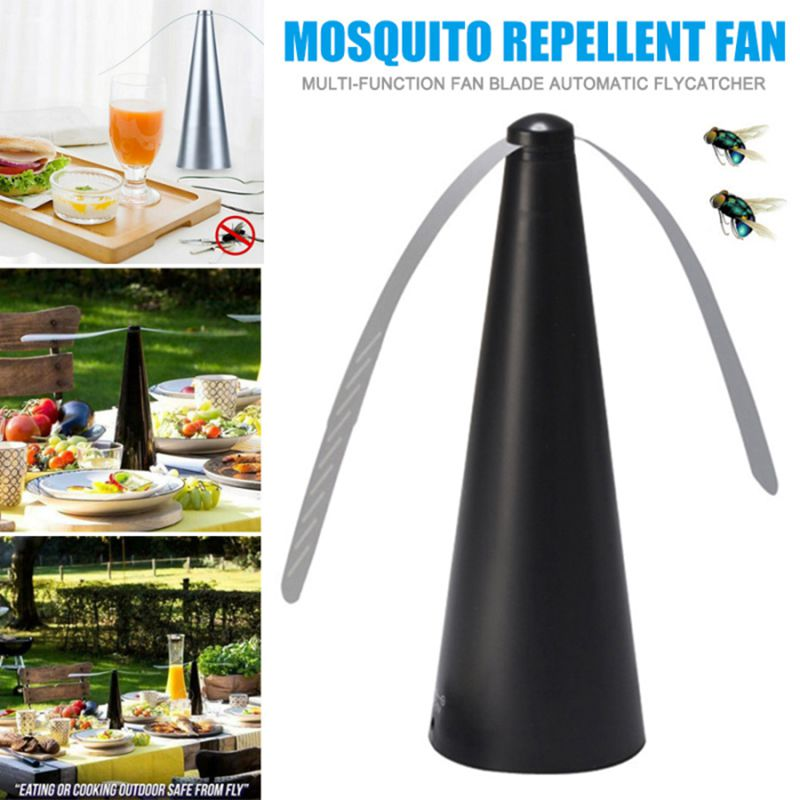 1pcs Automatic Fly Trap Fly Repellent Fan Battery Power Multifunctional Flies Bugs Repellant Device