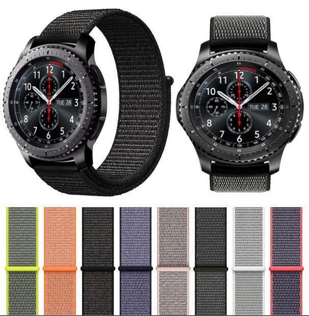 22mm 20 Nylon Band Pebble Time Amazfit 3 GTR GTS Pace Bip For Samsung Galaxy Active 2 42 46 Gear S2 S3 Ticwatch S S2 E Pro Strap