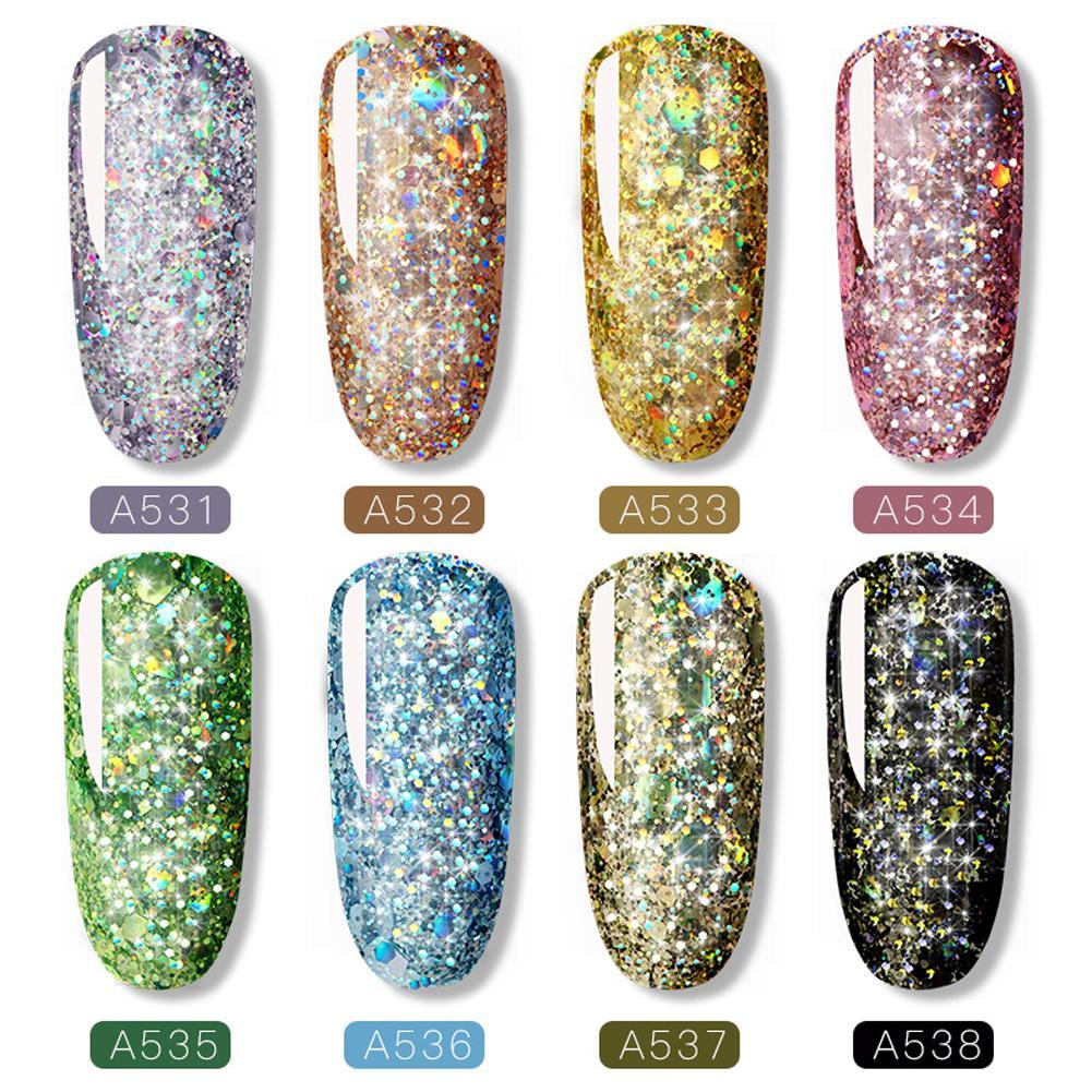 8 pcs set gel nail polish iris 01