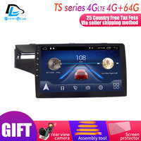 4G Lte Android 9.0 Car multimedia navigation GPS DVD player For Honda Fit JAZZ 2014 2018 years IPS screen Radio stereo