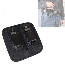 Tactical Double Magazine Pouch for 9mm .40 .45 .380 .357 IWB Mag Holster Concealed Cary for Double Stack Mag Holder for Glock