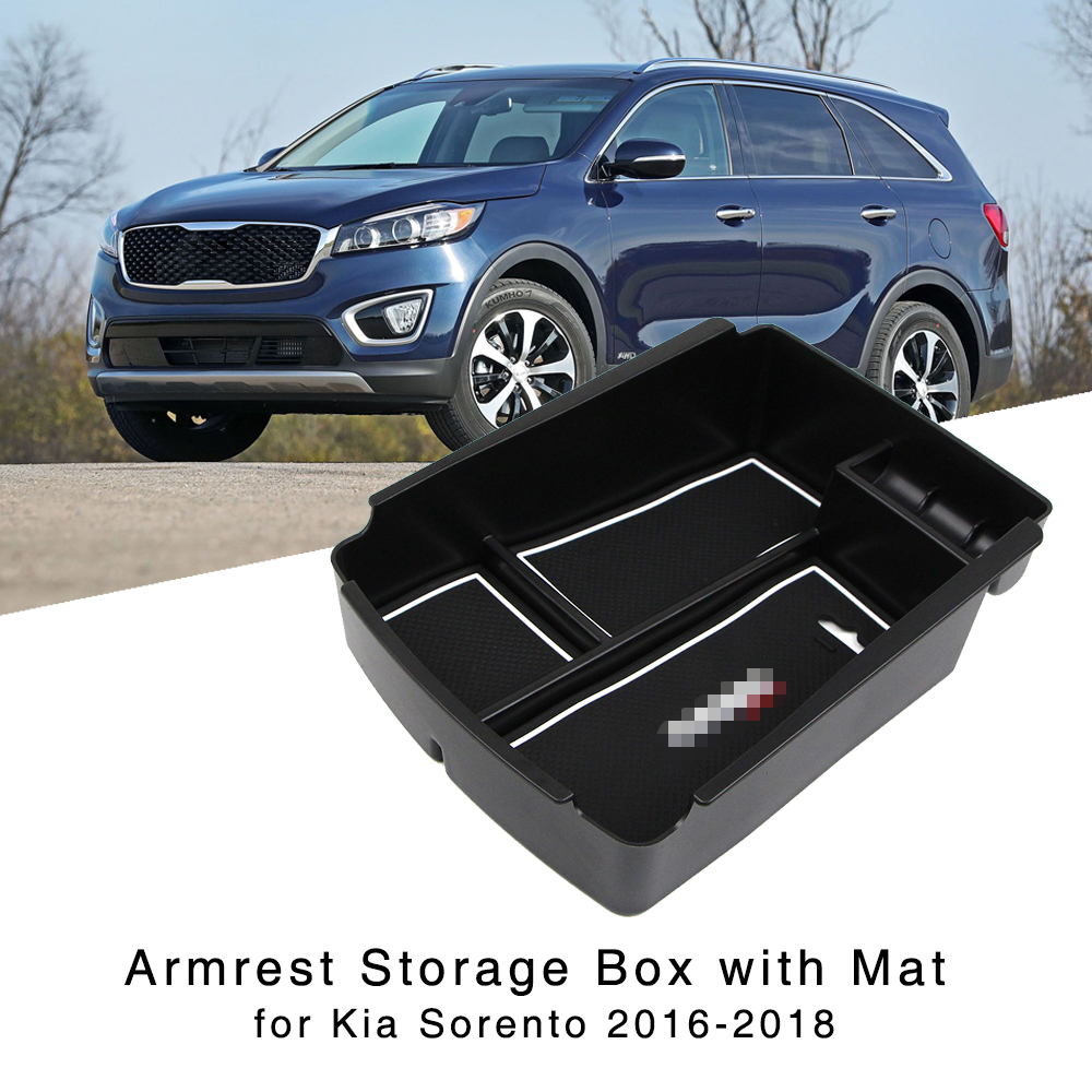Armrest Storage Box For Kia Sorento 2016 2017 2018 Interior Organizer Central Console Glove Holder Tray