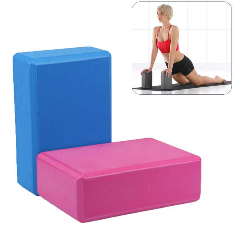EVA Yoga Block Brick Home Gym Exercise Fitness Health Practice Tool Stretching Body Shaping Training Yoga Props Health Training