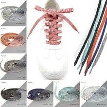 New 3M Reflective Shoeslace Flat Shape Personalized Sports Lace Double-sided Luminous Night Running Athletic Shoe