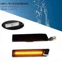 цена на Flowing Turn Signal Lights Dynamic LED Side Marker Indicator Blinker For BMW E36 M3 Facelift 1997-1999 X5 E53 1999-2006